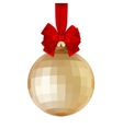 Golden Christmas ball EPS 10 vector image