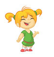 cartoon cute girl dancing vector image