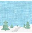 Christmas card template Background Linen folk vector image