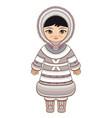 eskimo clothes north girl vector image