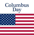 Holiday in the US Columbus Day Poster vector image
