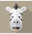 Modern Flat Design Zebra Icon vector image