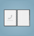 open phon ebook vector image