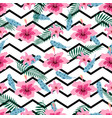 pattern with pink flowers vector image