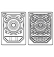 professional concert tour array subwoofer speakers vector image