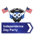 INDEPENDENCE DAY PARTY SIGN vector image vector image