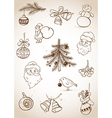 Doodle Christmas set vector image vector image