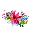 hand painted watercolor floral bouquet vector image