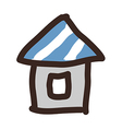 icon house vector image vector image