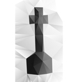 Cross tombstone vector image