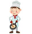 chef isolated on white background vector image vector image
