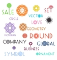 Round symbols with slogans vector image vector image