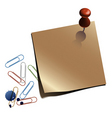 notepaper  with clips vector image vector image