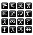 Sport web icons buttons vector image