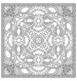 unique coloring book square page for adults - vector image