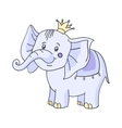 baby elephant cartoon vector image
