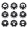 black communication buttons vector image