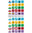 construction tools set outline black and white vector image
