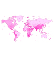 Detailed World map of pink colors vector image