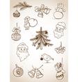 Doodle Christmas set vector image
