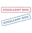 Excellent size textile stamps vector image