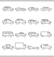Outline car collection icon vector image