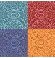 Set of colorful patterns seamlessly tiling vector image