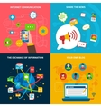 Social Network Concept Icons Set vector image