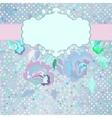Vintage dots Floral Card vector image