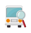 bus and magnifying glass vector image