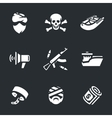Set of Sea pirates vector image vector image