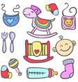 toy various style baby doodles vector image