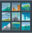 mountain infographic diagrams and charts icons vector image