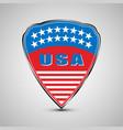 usa shield emblem vector image