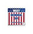memorial day calendar vector image