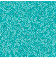 stylized leaves on a blue background vector image vector image