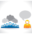 meeting or discussion between group of people vector image