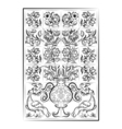 portuguese old tiles vector image vector image