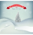 background with snow covered hills snow vector image