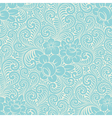 Seamless floral swirly background vector image vector image