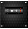 2013 New Year Analog Counter vector image vector image