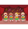 Children singing on the stage vector image