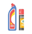 Cleaning product detergent plastic bottles and vector image