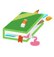 Closed book vector image