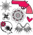 punk design elements vector image