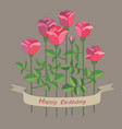 roses with space for text vector image