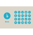 Set of birds simple icons vector image