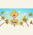 summer tropical vacation palm treen over blue sky vector image