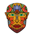 man face of flowers vector image