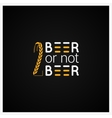 Beer Concept Logo Design Background vector image